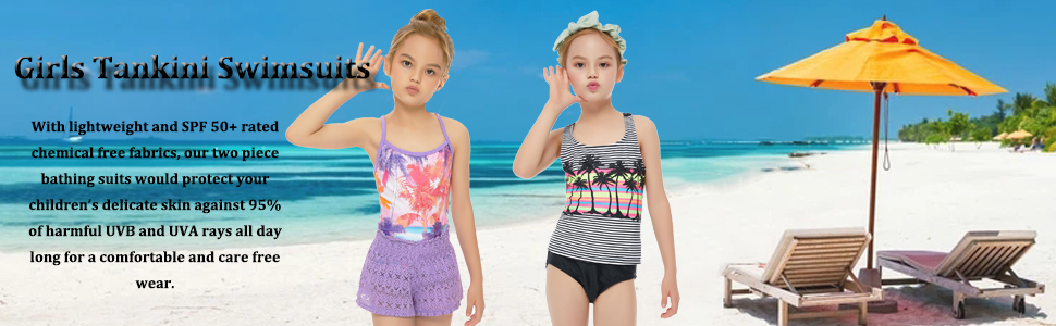 girls tankini swimsuit