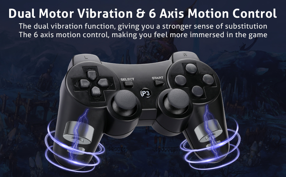 Daul Motor Vibration amp; Motion Control of PS3 Controller