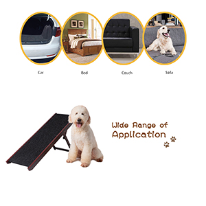 Wooden Pet Ramp/Dog Ramp Folding dog ramp for Couch bed car dog ramps