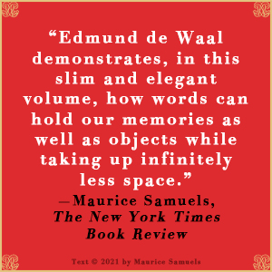 Letters to Camondo Edmund de Waal Maurice Samuels quote