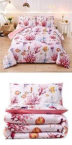 sea coral starfish comforter