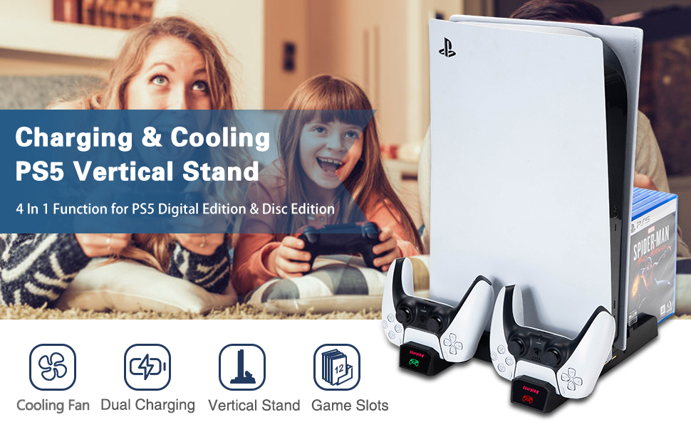ps5 charger and cooler