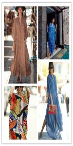 Women Beach Kaftan Maxi Dress Cover Up