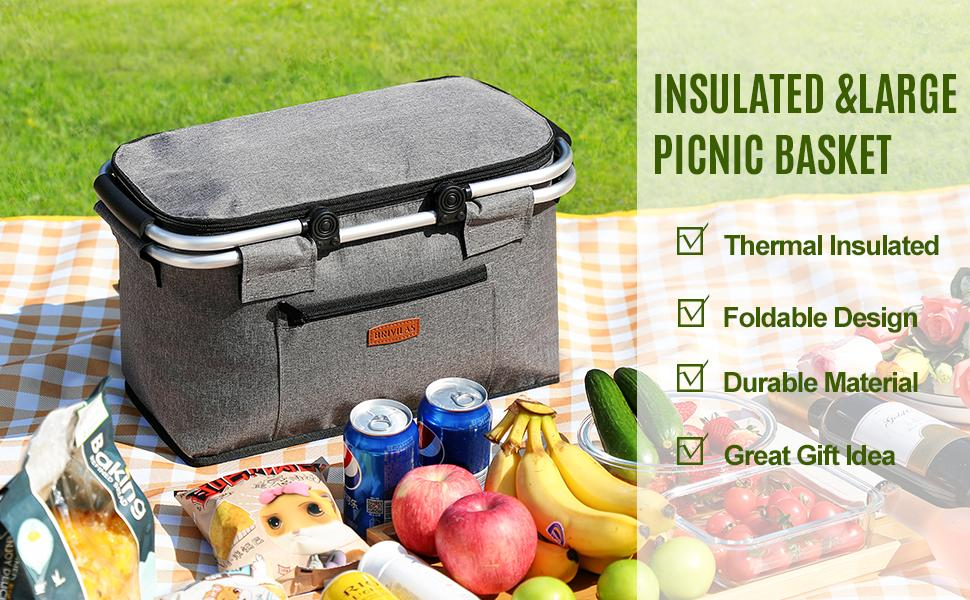 Insulatedamp;large picnic basket