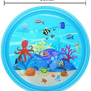 68 inches (170 cm) splash pad