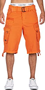 Cargo shorts with side pockets for men