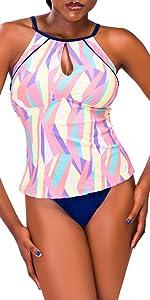Geometric split swimsuit