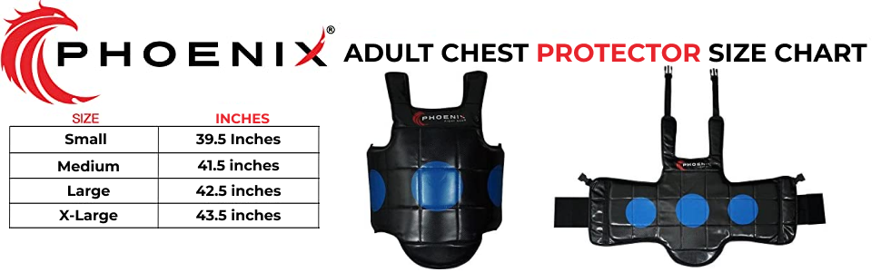 Mixed Martial Arts Adults Reversible Chest Protector ideal for Boxing, Sparring, Karate