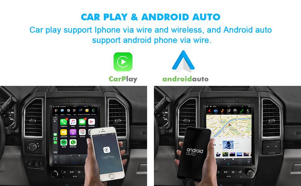 car play android auto CUSP 12.1 Car Stereo Radio GPS Navigation Ford F150 Raptor F250 F350 F450