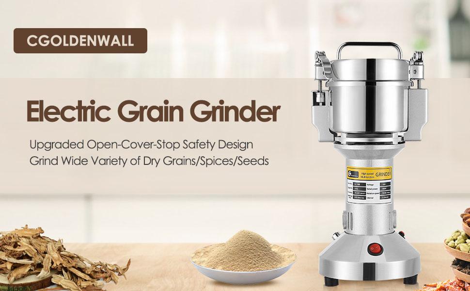 150g Electric Grain Mill Grinder Upgraded Spice Grinder Pulverizer Stainless Steel Powder Machine