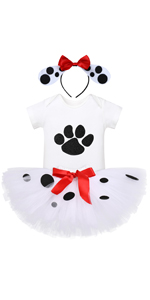 Dalmatian 1st birthday outfit girl baby