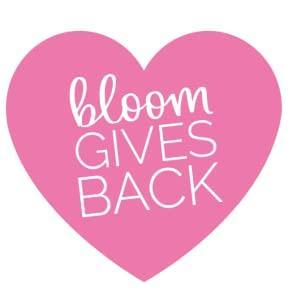 bloom gives back heart