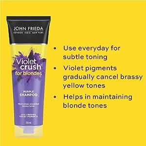 John Frieda Violet Crush Purple Shampoo Benefits