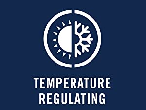Temperature-regulating technology helps keep you warm when it';s cold out, and cool when it's hot.