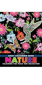 9387177041, adult colouring, nature, peace relaxation