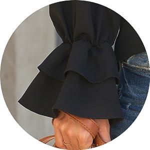 Ruffled Bell Sleeve