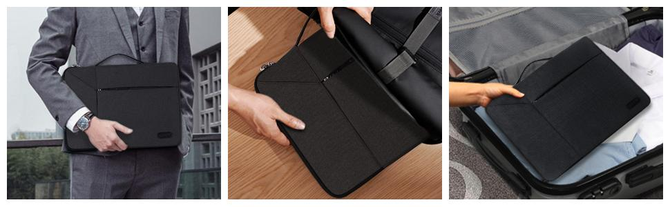 Can easily slide into your briefcase, backpack or other bag