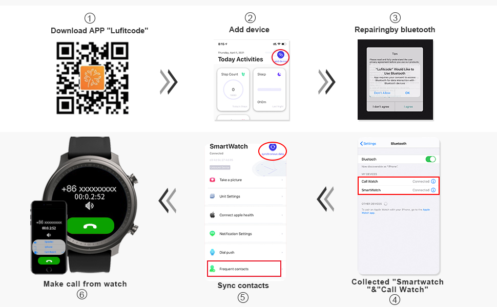 APP settings for Android Smart Watch or Smart Watch for iPhone