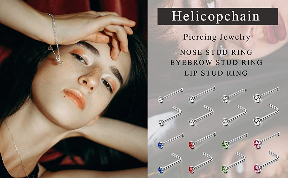 helicopchain 240pcs nose rings