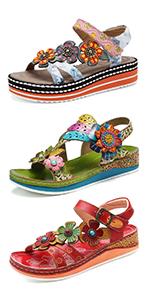 dam läder vandring sandaler