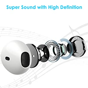 Earbuds Headphones for Computer 3.5mm Earphones with Microphone for iPhone