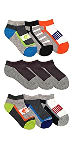 Jefferies Socks Boys School Uniform Sport Pattern Low Cut Athletic Socks 9 Pair Pack