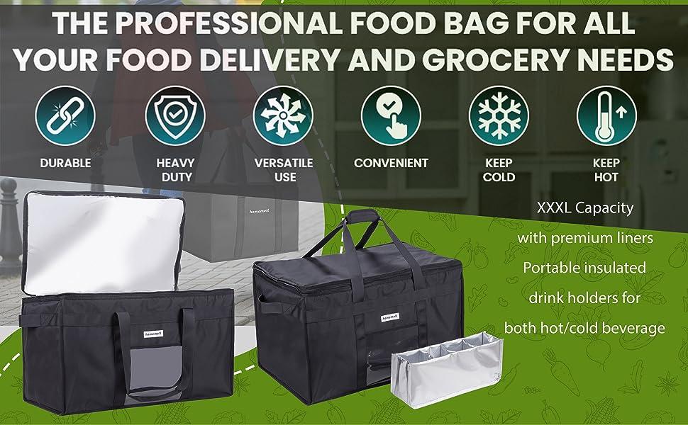 XXXl food grocery catering bag uber eats doordash
