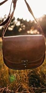 braune Tasche für Herren Herrentasche Leder silber hellbraun dunkelbraun natürliche Gerbung groß