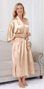 women long solid robes