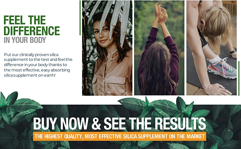 Feel The Difference In Your Body With Living Silica Plant Based