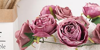artificial rose flowers purple