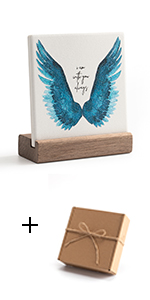 Blue wing with gift box
