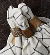 Wooden napkin ring collection