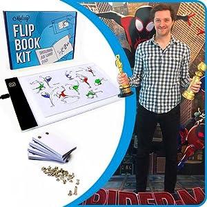 flip book kit animation flipbook paper andymation light pad for flip book kit award