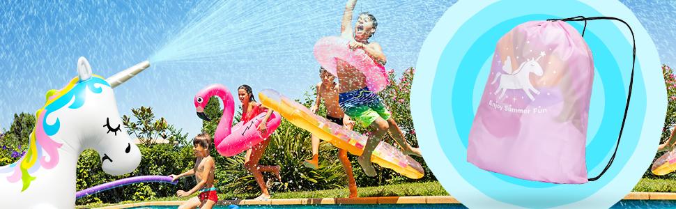 Inflatable Unicorn Sprinkler for Kids