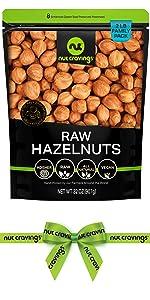 raw hazelnuts bag