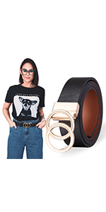 Double O-Ring Womens Belts