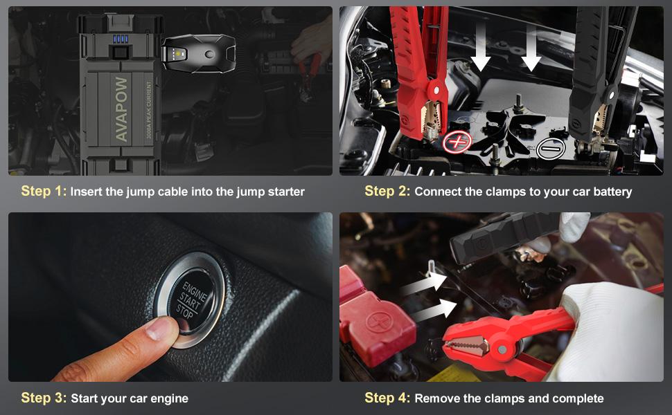 portable car battery starter