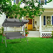 A+3-1 - porch swing with canopy stand