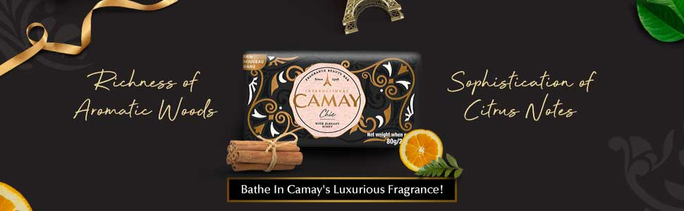 Camay, for dry skin, glycerine, natural, body soap for bathing