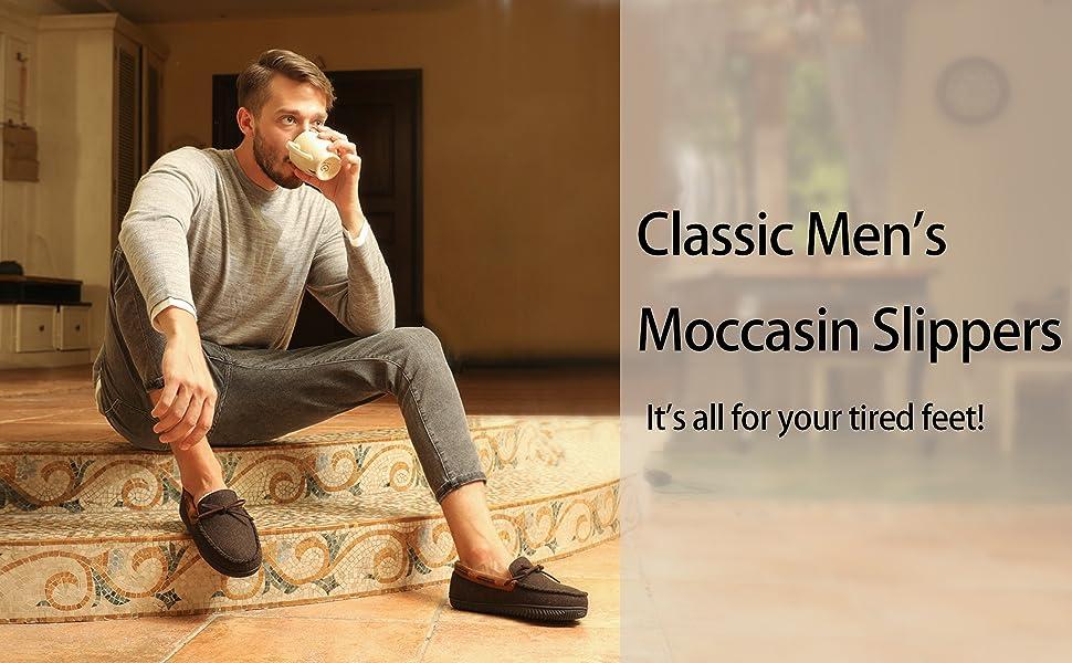 CLASSIC MEN'S MOCCASIN SLIPPER