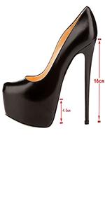 black stiletto heel pumps