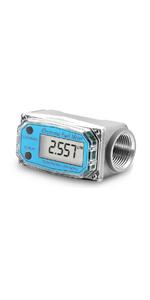 Turbine Flow Meter Electronic 1amp;#34; 1 inch 1.5 3/4 Oil Flowmeter Kerosene Gas Methanol