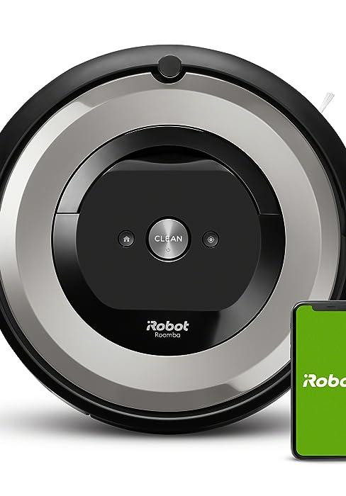 Roomba e5 voorkant met telefoon