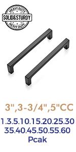 Ravinte Kitchen Square Cabinet Handles Matte Black Pulls Kitchen Cabinet Hardware Flat Black