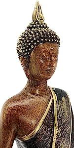 Bellaa Buddha Statues Sitting Meditating Blessing Gold
