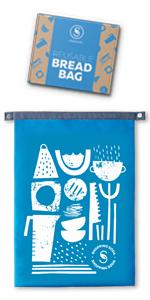 blue rpet bread bag for homemade bread large
