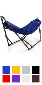 hammock with stand, adjustable, foldable, indoor outdoor, heavy duty, cotton net, stainless steel