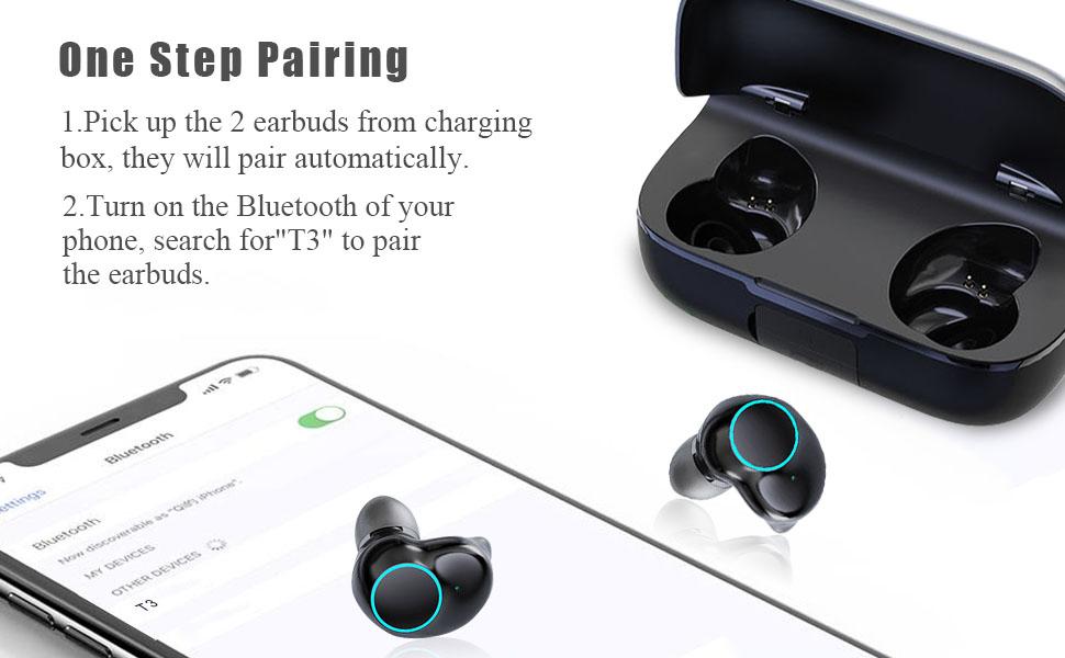 T3 wireless earphones