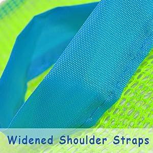 widened shoulder straps